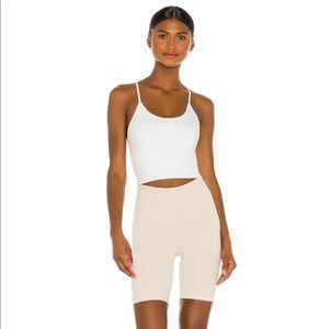 Barre Seamless Tank in White ALALA SMALL